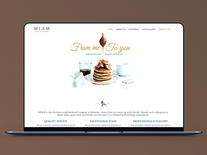 MIAM Website Design